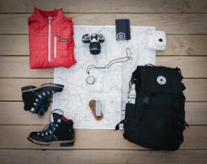 backpacker udstyr